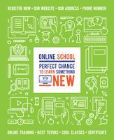 Online school onderwijs ontwerpconcept vector