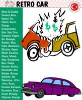 Auto, Retro Auto, Autoverhalen, eps, vector