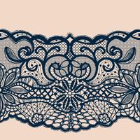 Sjabloon frame ontwerp. Lace kleedje. vector