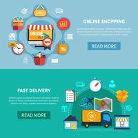 E-commerce banner instellen vector