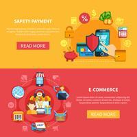 Twee e-commerce banner instellen vector