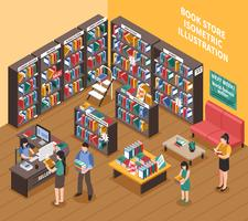 Book Shop isometrische illustratie