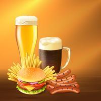 Realistische bier illustratie vector