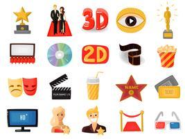 Bioscoop Icons Set vector