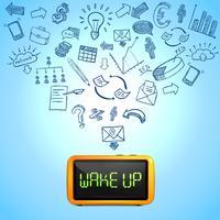 Zakelijke ochtend samenstelling vector