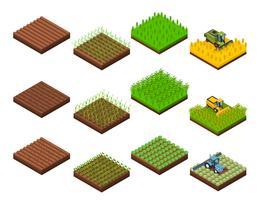 oogst werk elementen ingesteld vector