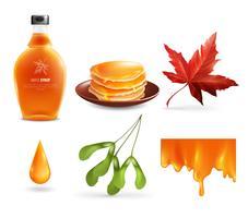 Maple siroop Set vector