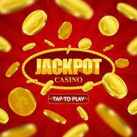 Jackpot Casino Online achtergrondontwerp vector
