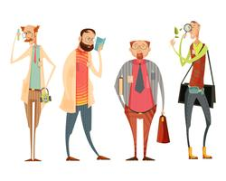 retro stijlinzameling van leraren