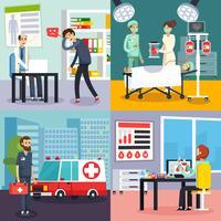 Mannelijke arts karakter platte pictogramserie