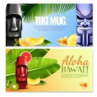 Hawaiiaanse partij horizontale banners vector