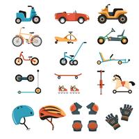 Ride-On Toys Elements-collectie vector