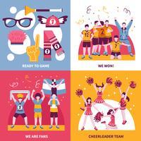 Sportfans Cheerleaders isometrische Concept vector