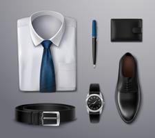 Zakenman kleding accessoires vector