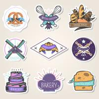 Bakkerij Stickers Set Vintage stijl