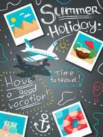 Zomer vakantie ontwerpconcept vector