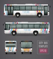 Stadsbusmalplaatje in realistische stijl