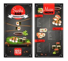 Sushi Bar-menu vector