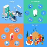 Tandheelkunde 2x2 ontwerpconcept