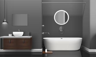 Modern realistisch badkamersbinnenhuisontwerp
