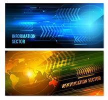 Zoek horizontaal banners radars vector