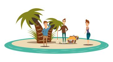 Treasure Island vlakke samenstelling