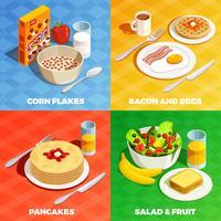 Lunch maaltijd ontwerpconcept vector