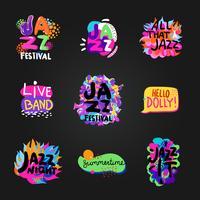 jazz-schoolbordenset vector