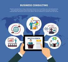Wereldwijd bedrijfsadviesconcept vector