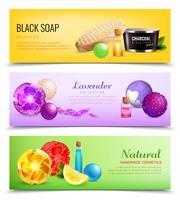 Geurige zeep banners collectie vector
