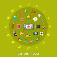 Ontwerper Tools Gekleurd Concept