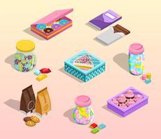 Suikergoedverpakkingsset vector