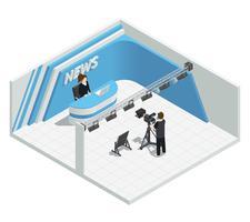 Live News Studio-interieur vector
