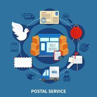 Postservice rond ontwerp vector