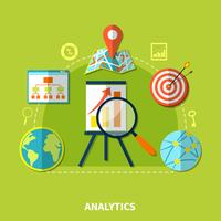 Web Analytics symbolen samenstelling