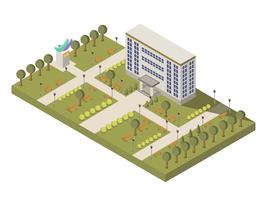 Isometrische Universiteit En Campus Samenstelling vector