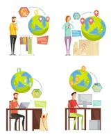 liefdadigheidsbetaling 2x2 ontwerpconcept vector