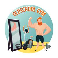 Gym School Design Concept vector