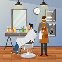Barber Shop plat ontwerp vector