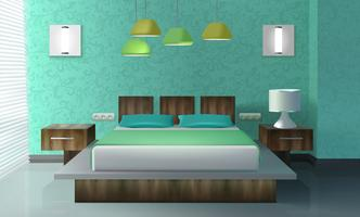 Slaapkamer interieur vector
