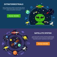 Bannerset voor satellietsystemen vector