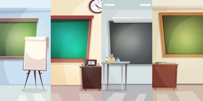Onderwijs verticale banners vector