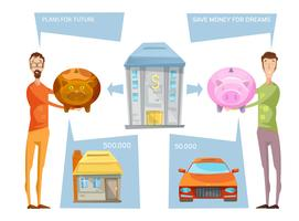 Het bereiken van financiële doelstellingen Concept vector
