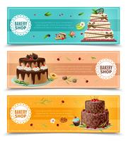 Cakes Banners Set vector
