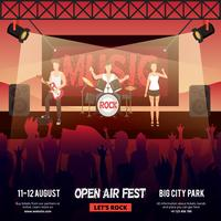 open lucht festival banner vector
