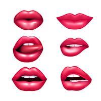 lippen mimische set vector