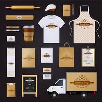 Bakkerij huisstijl sjabloon ontwerpset