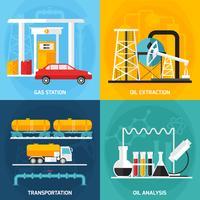 olie-gasindustrie-samenstellingen vector