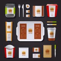 Fastfood bedrijfsidentiteit vector