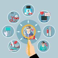 geneeskunde platte ontwerp